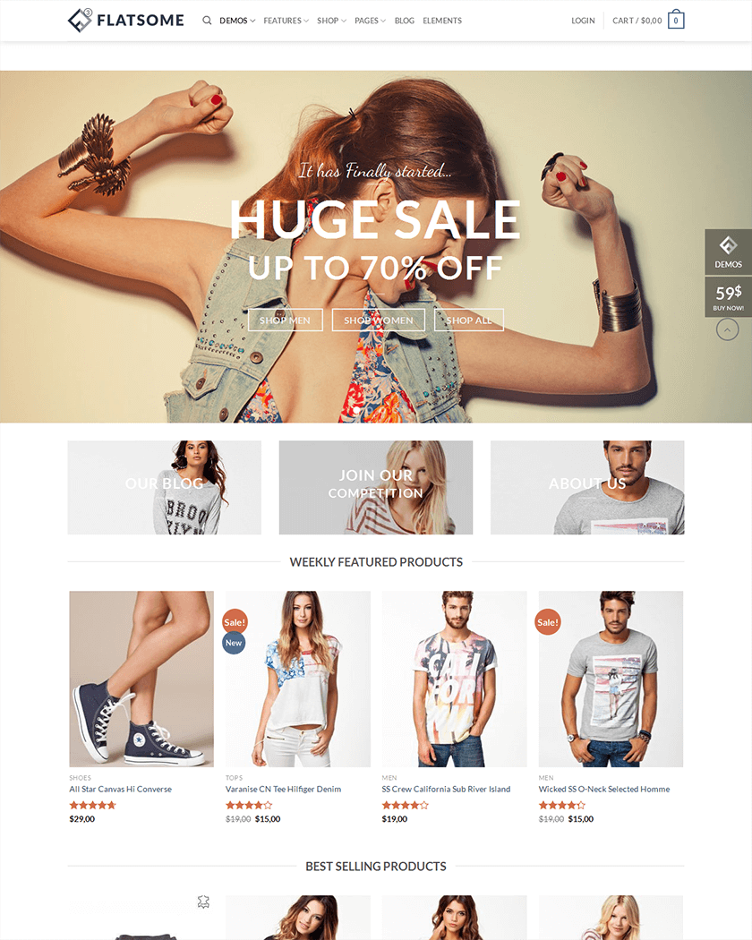 20+ Best WooCommerce Themes of 2017