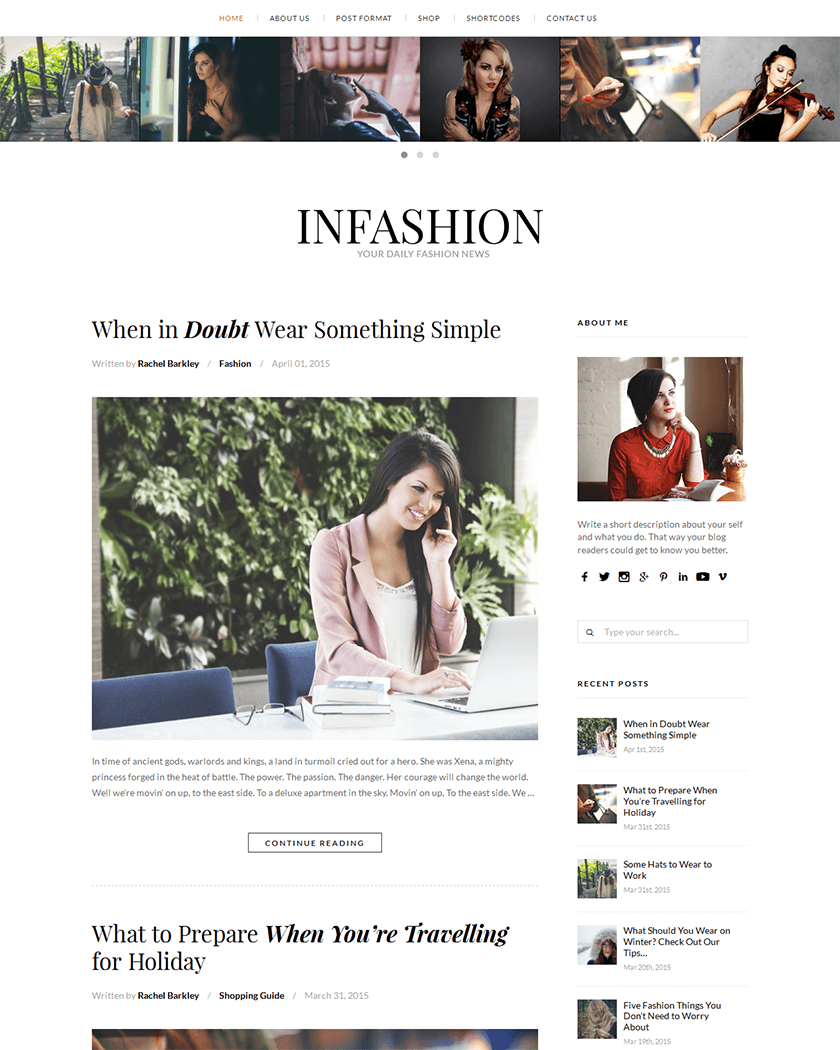 inFashion Theme