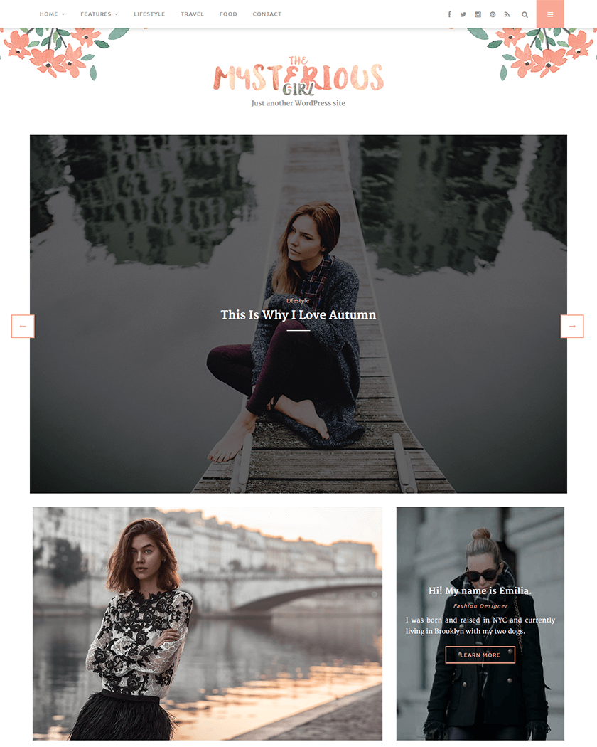 15+ Best Feminine Girly WordPress Themes