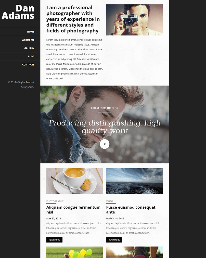 Photography Online Theme