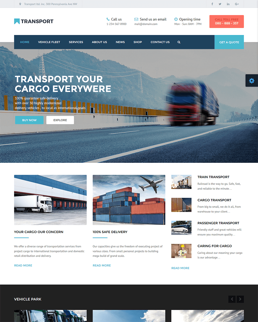 20+ Best Transportation WordPress Themes of 2017