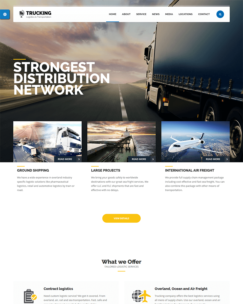 Transport - Logistic, Transportation & Warehouse  Theme