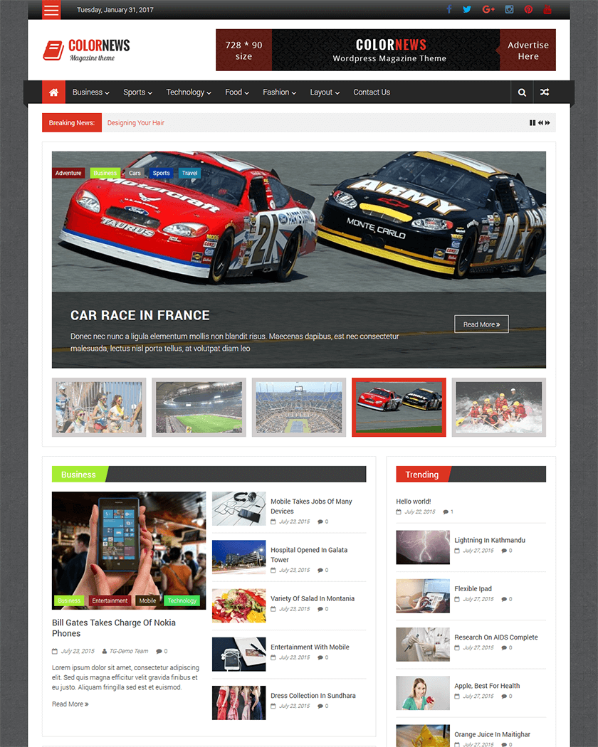ColorNews Theme