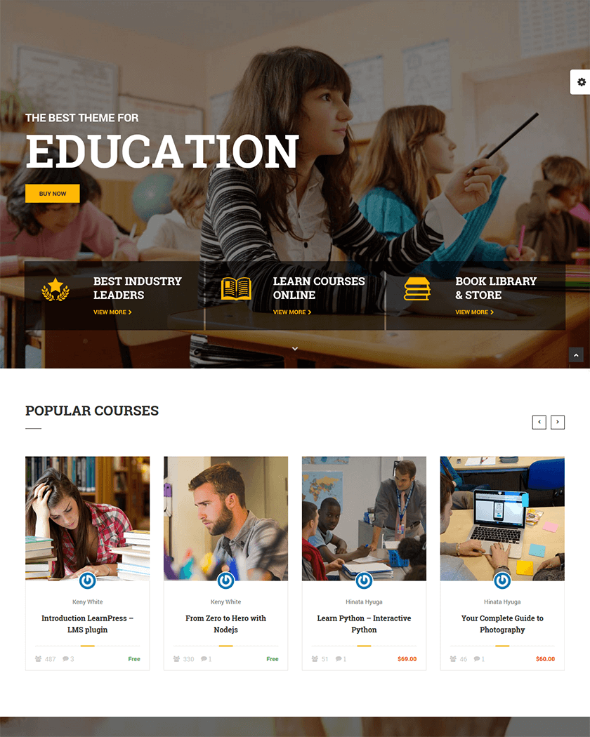 20+ Best Education WordPress Themes of 2017