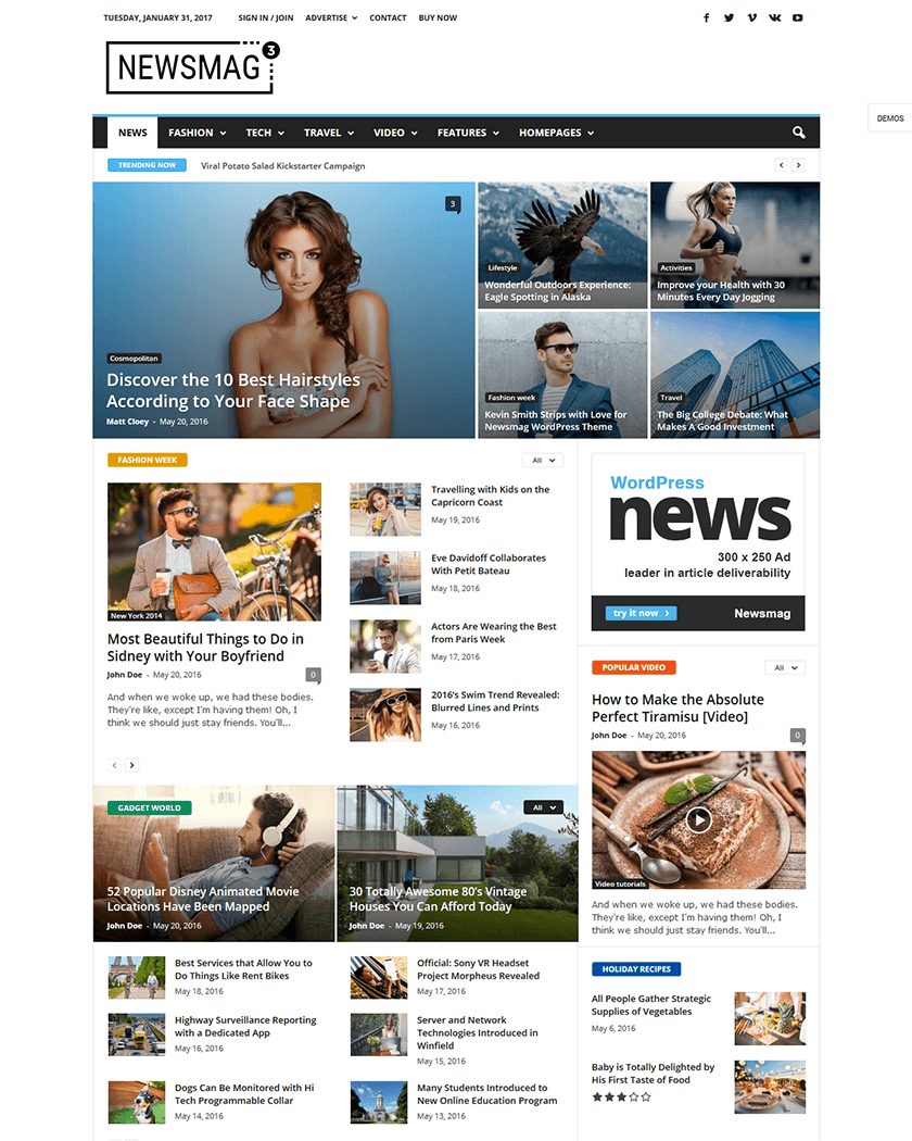 20+ Best WordPress Magazine Themes