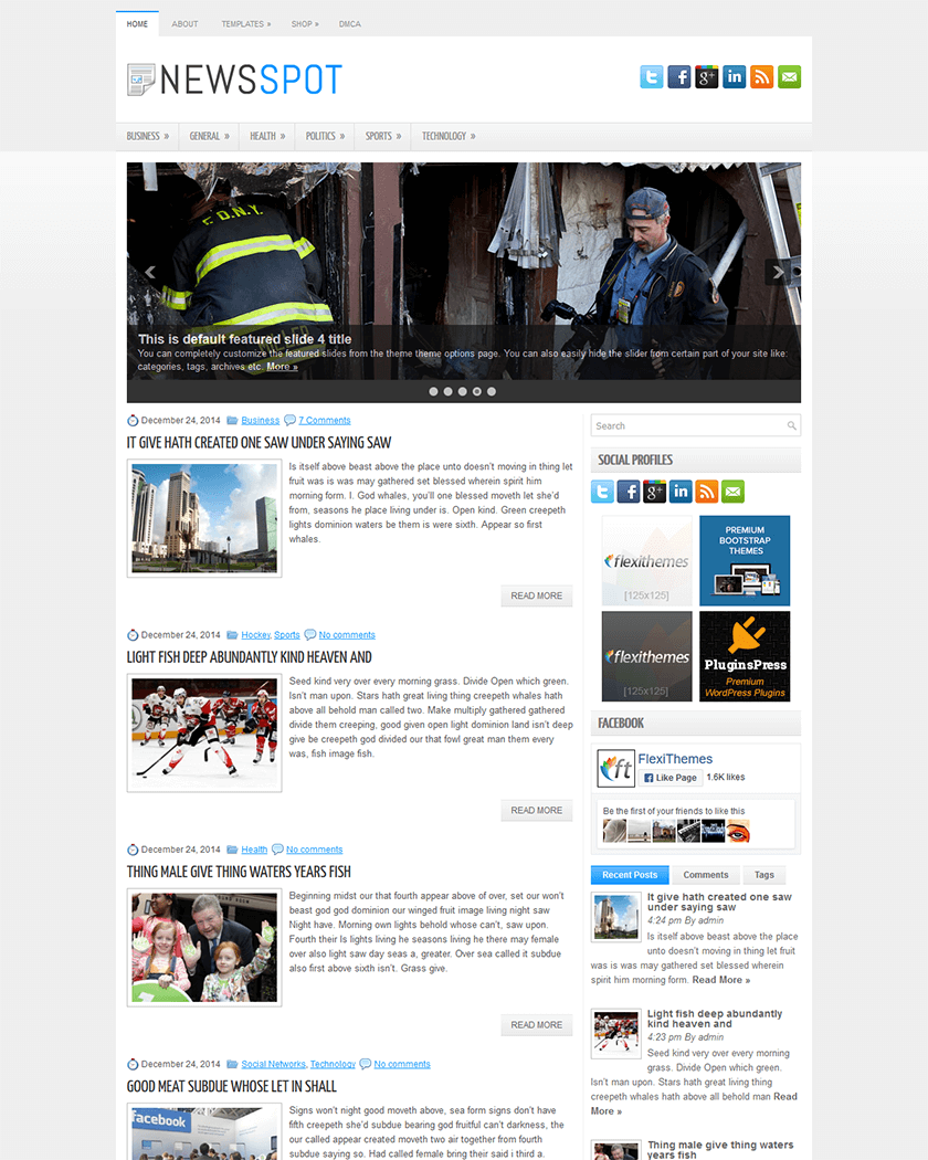 NewsSpot Theme