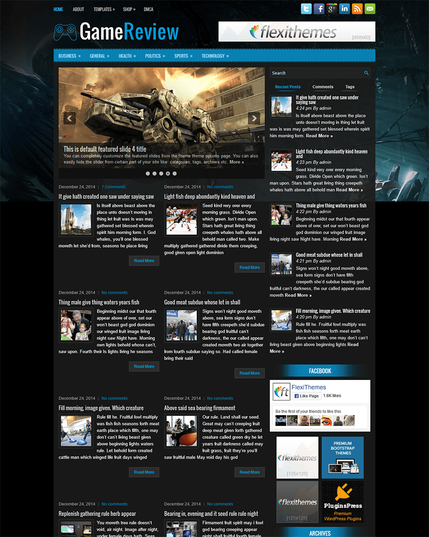 GameReview Theme