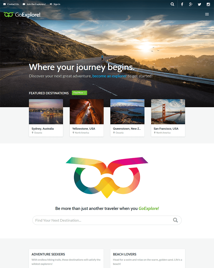 GoExplore Theme