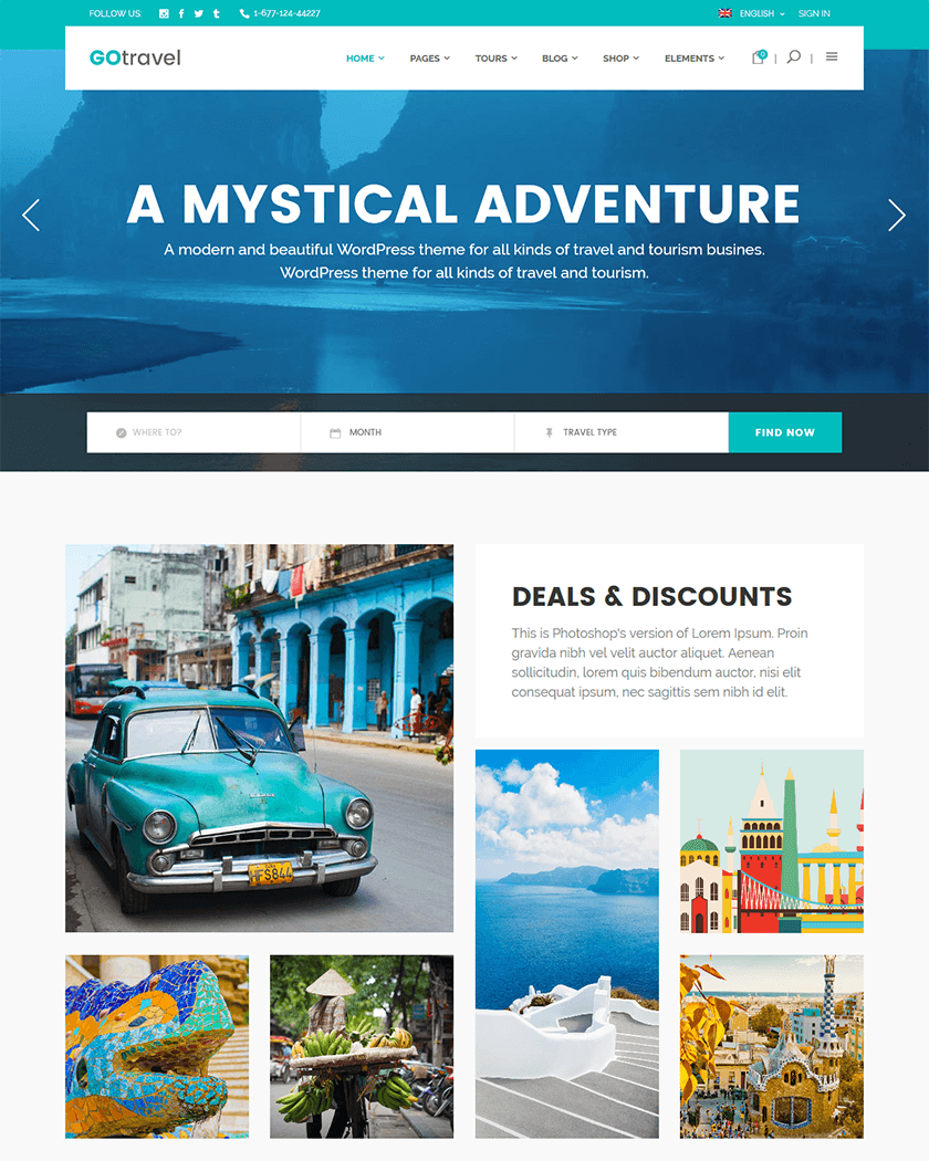GoTravel Theme