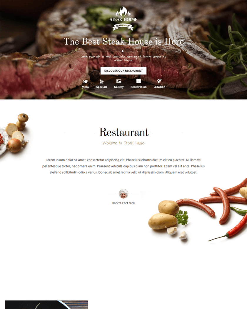Steak House Theme