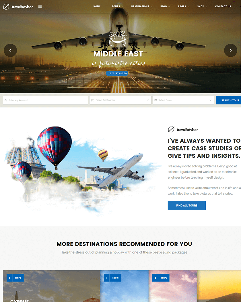 Travel Advisor Theme