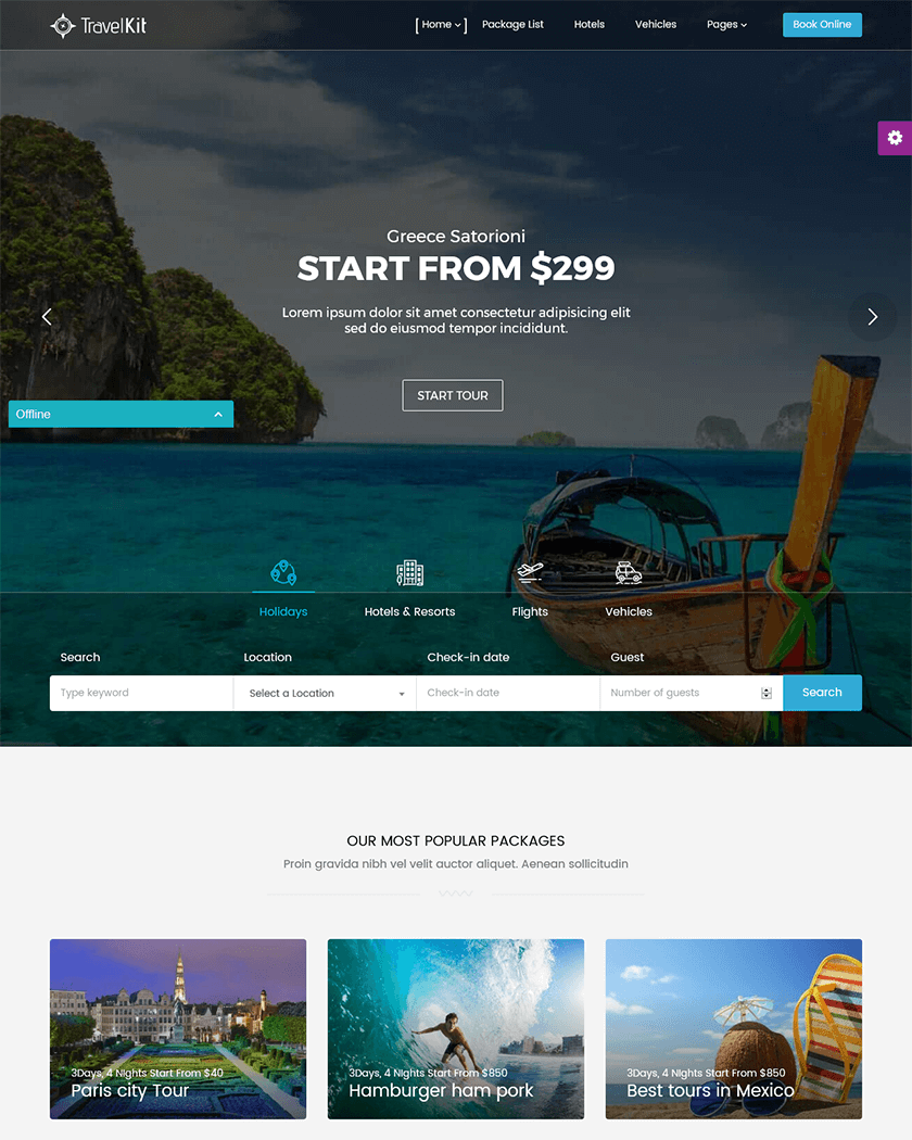 Travelkit Theme