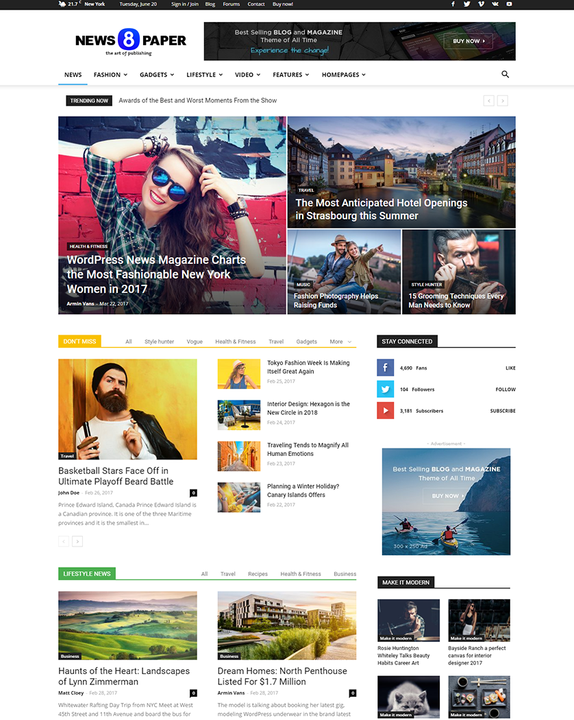 20+ Best WordPress News Themes